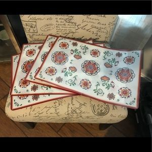 Four Outdoor Placemats